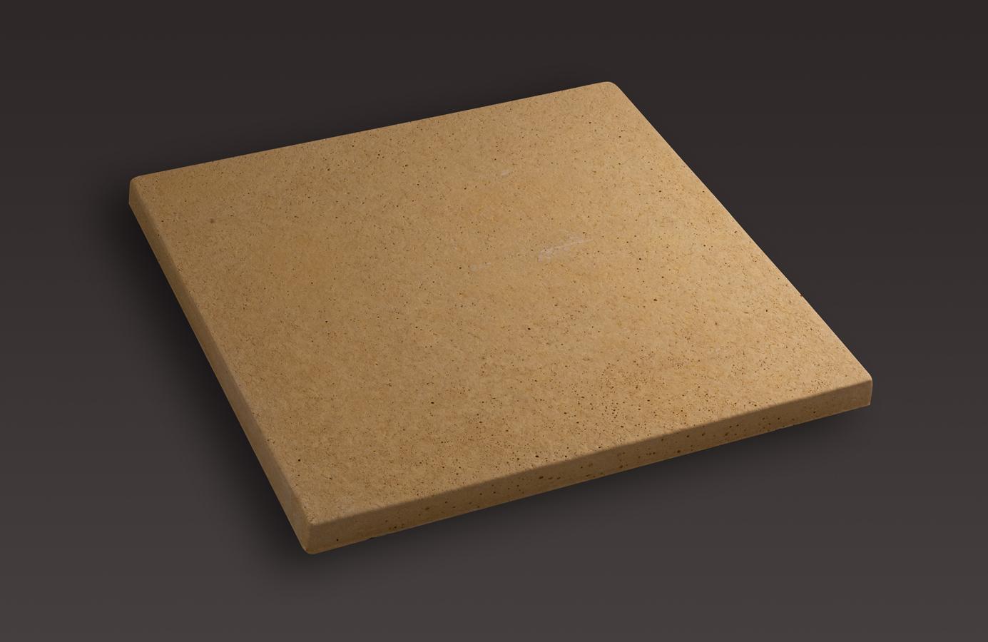 Dalle carr e lisse 50x50x3 bmop - Couleur ocre jaune ...